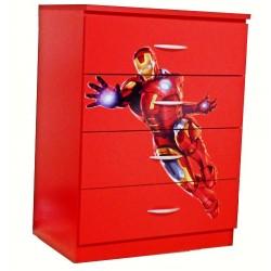 Comoda 4 sertare Iron Man