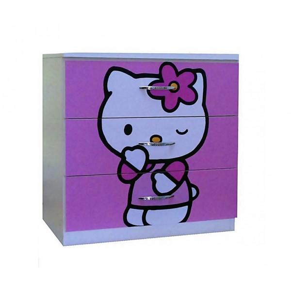 Comoda 3 sertare Kitty
