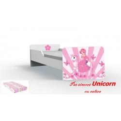 Pat tineret Unicorn cu saltea