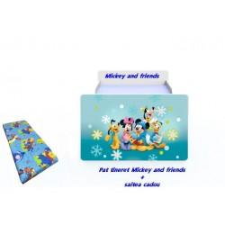 Pat tineret Mickey & Friends cu saltea