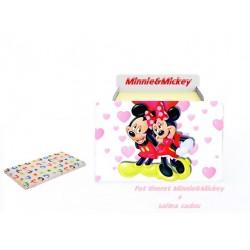 Pat tineret Minnie&Mickey cu saltea