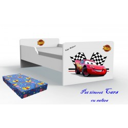 Pat tineret Cars cu saltea