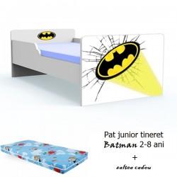 Pat tineret Batman cu saltea