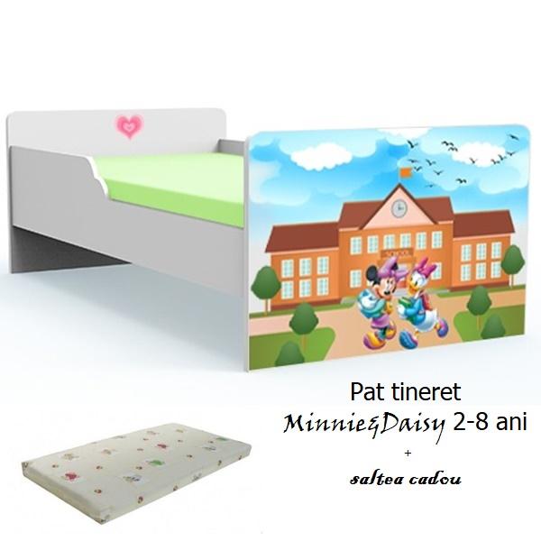 Pat tineret Minnie si Daisy cu saltea