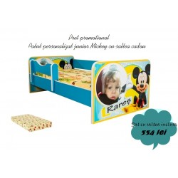 Promo pat personalizat Mickey cu saltea cadou