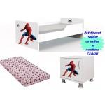 Pat tineret Spider cu saltea si noptiera CADOU