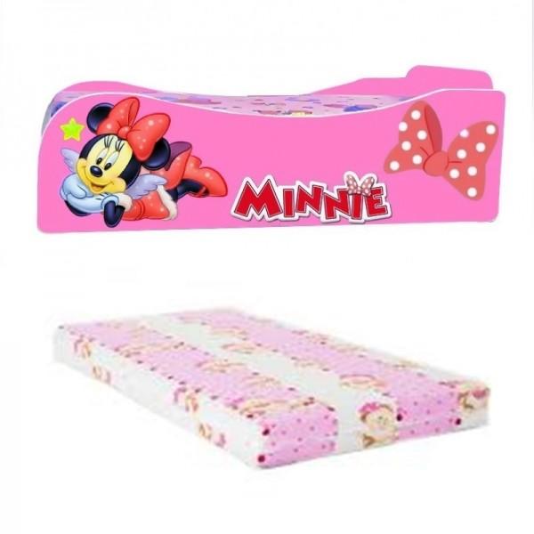 Pat fetite Minnie cu saltea