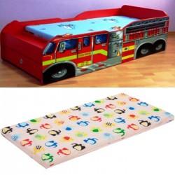 Pat masina pompieri extensibil cu saltea inclusa