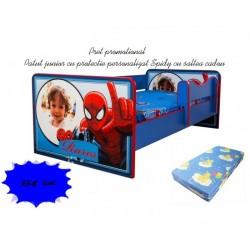 Promotie Pat junior personalizat Spidy cu saltea cadou