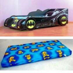 Pat masina Batman cu saltea inclusa